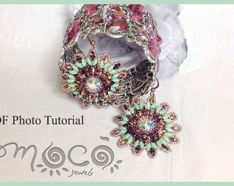Photo Tutorial ENG-ITA,DIY Earrings,*Valery* earrings ,PDf Pattern  07