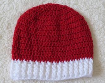 Christmas crochet beanie