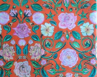 Liberty fabric RARE colour way of Penrose tana lawn - stash builder 10ins x 13ins