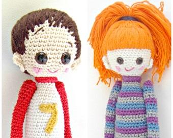 2- Crochet Pattern Special Deal, Buy the Crochet Doll Bel Pattern and the Crochet Doll Dani Pattern for Euro 10.00, Amigurumi Pattern