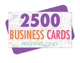 Business Card Printing, 2500 Full Color Business Cards, Printed on Recycled Stock with Soy Ink, Standard Size 3.5x2 inches