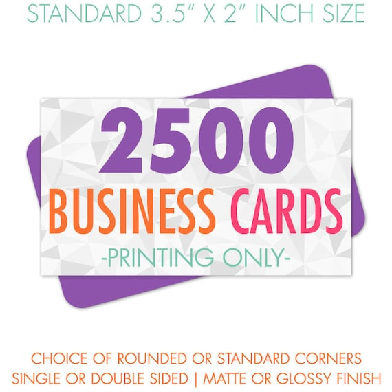 Business card printing 2500 full color business cards colourmoves