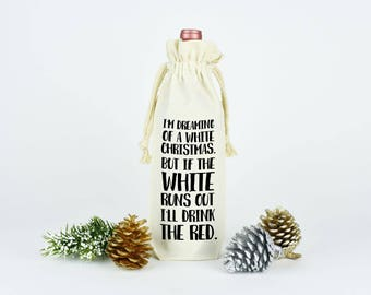 Wine Drinker Gift, Holiday Party Decor, Christmas Party Decor, Funny Wine Bag, Holiday Wine Tote, Canvas Wine Tote, Wine Tote Bag, Wine Bag