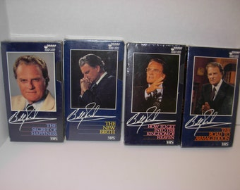 Four,  Billy Graham,  VHS Tapes , Sealed, Free Shipping