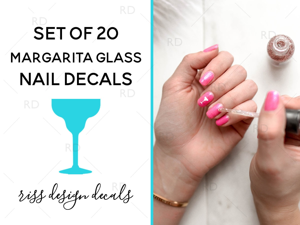 Margarita Glass Nail Decals / Nail Decals for your hands or toes ...