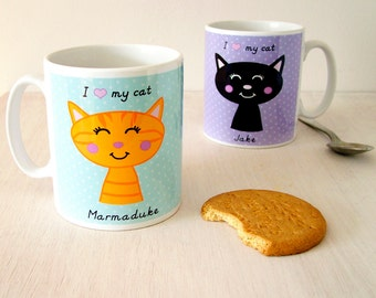Cat Mug - Personalised Cat Gift - Cat Lover - Cat Lady - Cat Gifts