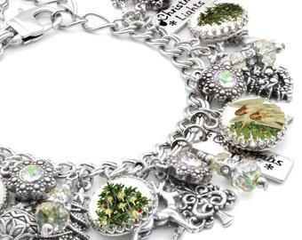 Christmas Tree Jewelry, Christmas Jewelry, Christmas Tree Bracelet, Holiday Bracelet, Angel Bracelet