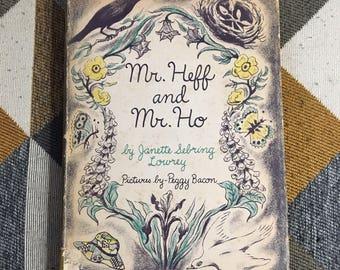 Vintage 1952 Mr Heff and Mr Ho Janet Sebring Lowrey Hardcover Book Dust Jacket