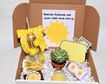 Sunshine Gift Box | Box of Sunshine | Get Well Gift | Cheer up gift | Friend Gift | Thank You Gift | Thinking of you Gift | Send a Gift