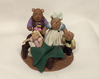 Goldilocks and the Three Bears Fimo Figurine