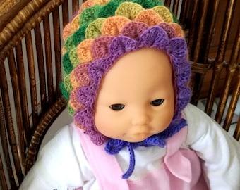 rainbow baby  hat crochet pattern