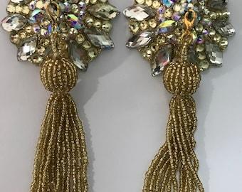 Gold pasties wotj gold tassels