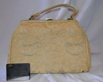 VTG Lesco Lona Off-White Straw Handbag