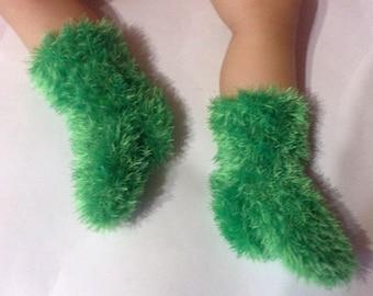 children's clothes.warm socks.baby booties.Pink socks\socks for childrenSlipper Bed Socks Booties Dark Purple Crochet Choose Size