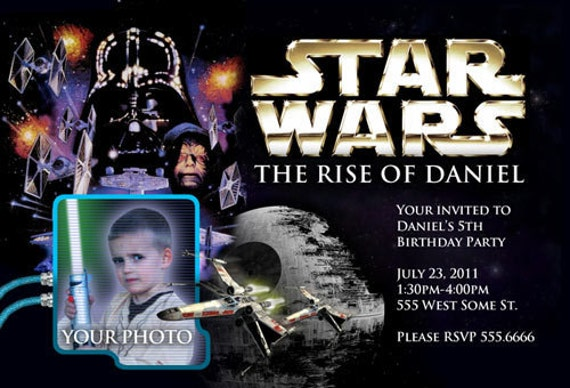 invitations d 39 anniversaire de star wars inviter custom. Black Bedroom Furniture Sets. Home Design Ideas