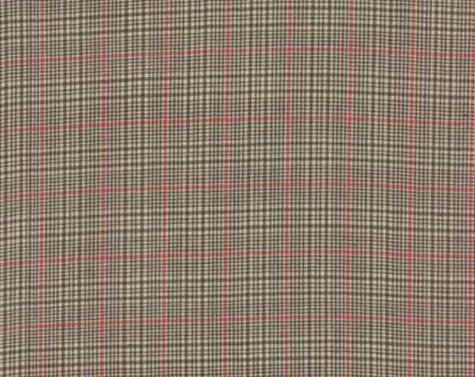 Petite Woven Silky Cotton Plaid Brown - 1/2yd