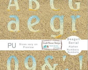 Digital Alphas Seagull Serial Beach Paper