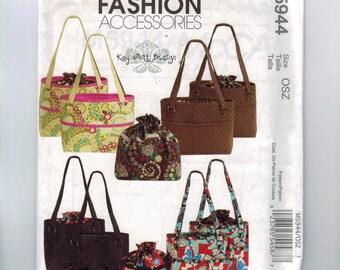 Craft Sewing Pattern McCalls M5944 5944 Purse Handbag Tote Large Bag Insert Liner UNCUT