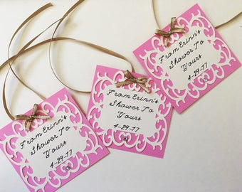 Gift Tags Custom Made Bridal Baby Birthday Tags