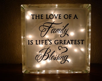 The Love of a Family Is Life's Greatest Blessing Night Light
