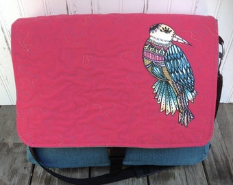 Whimsical Bird Messenger Bag