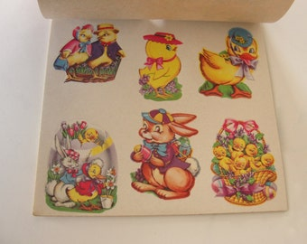 NOS Easter Presto Stick Sticker Seals by Eureka - 8 Sheets