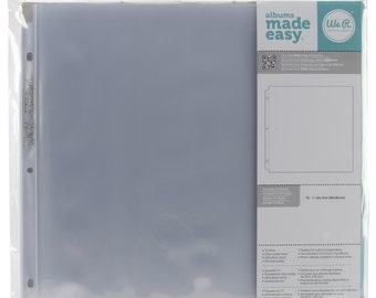"""We R Memory Keepers Ring Page Protectors 12""""X12"""" 10/Pkg"""