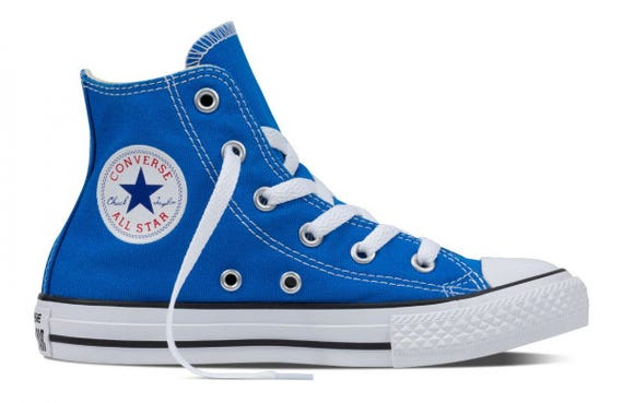 blue converse high tops kids