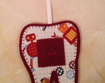 Tooth Fairy Hanger, robot tooth fairy hanger,
