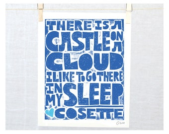 Cosette, Les Miserables, There is a castle on a cloud