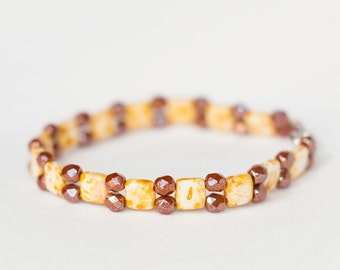 Pretty Picasso Bracelet with Earth Tones