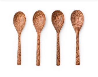 Bamboo Wooden Spoons ~ Set Of 4