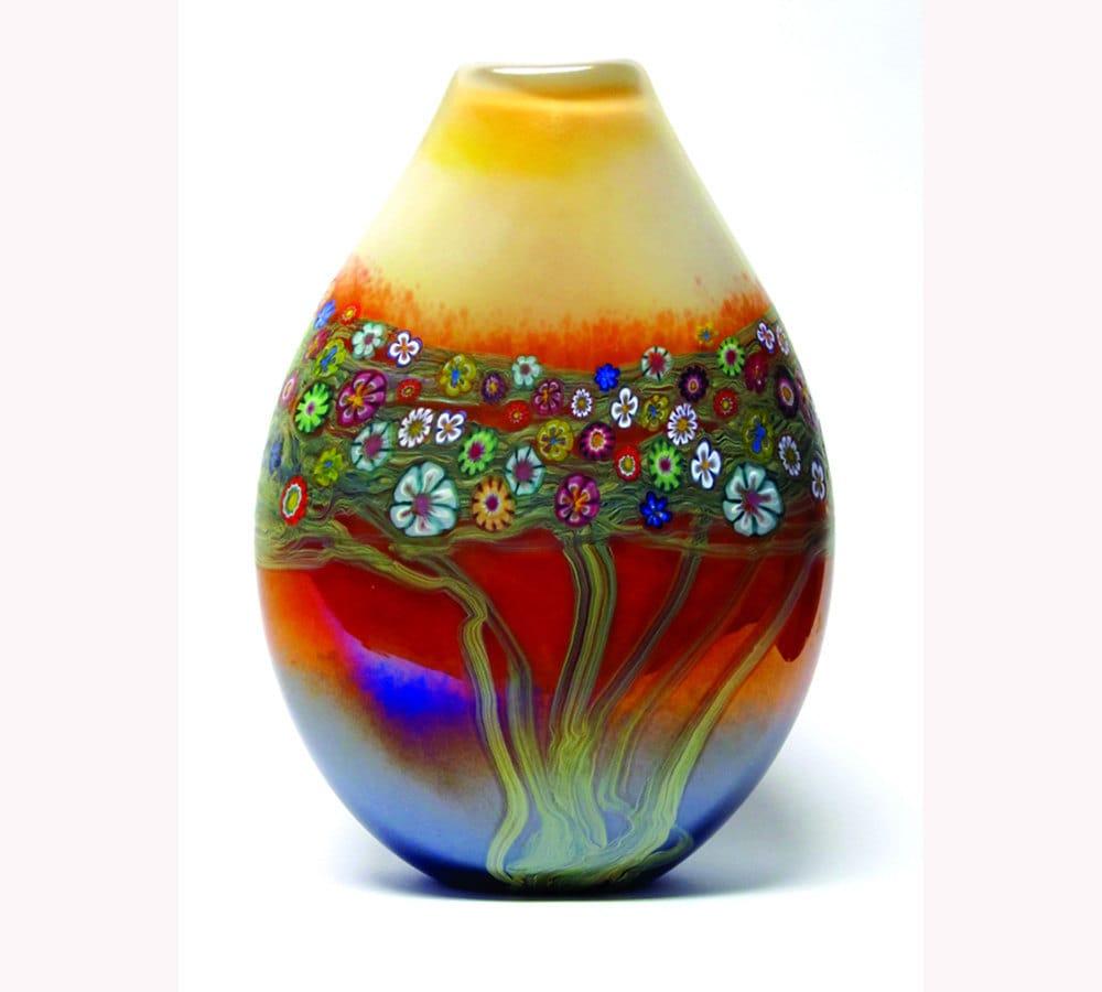 Hand blown art glass vase mango vines vase zoom reviewsmspy