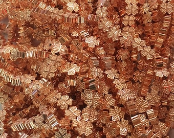 1Full Strand 8mm Rose Gold Four Leaf Clover Hematite Beads,Hematite Beads For Jewelry Making