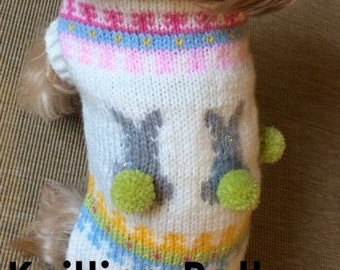 Dog Sweater with Bunnies -PDF Pattern
