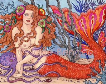 OCEAN TEMPTRESS limited edition art print
