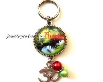 Keychain, zen garden, Jewelry Bag