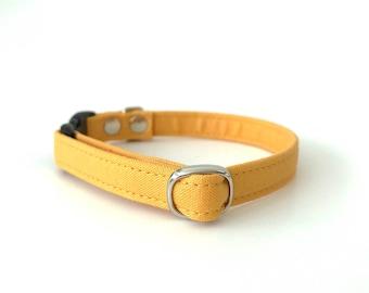 Mustard Breakaway Cat Collar/Tiny Dog Collar