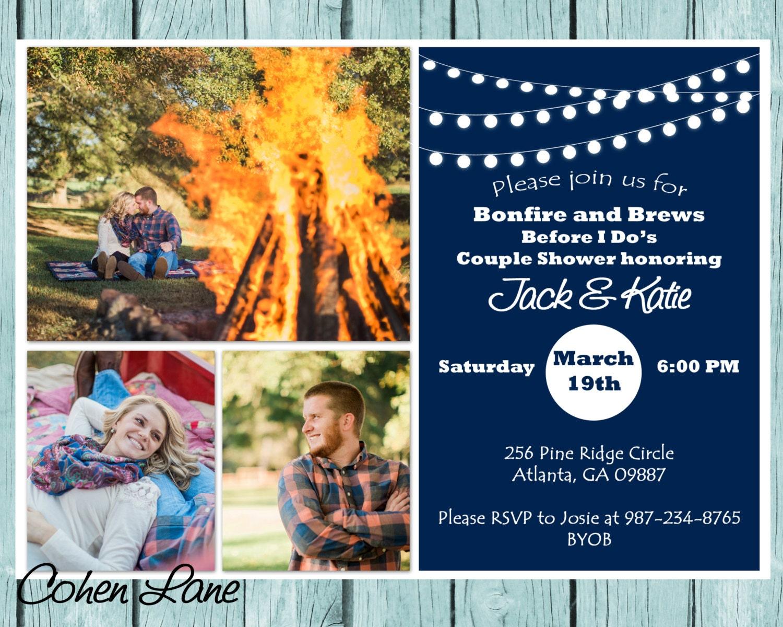 Printable Bonfire and Brews Before I Do Invitation. Wedding