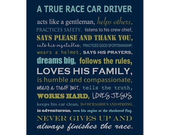 Race Car Nursery Decor Race Car Nursery Art - Boy Nursery Art Quote Print - Boy Nursery Decor - Transportation Nursery - CHOOSE YOUR COLORS