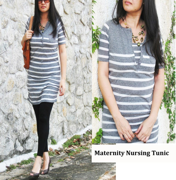 NIKKI Maternity Clothes / Nursing Top / Breastfeeding Tunic