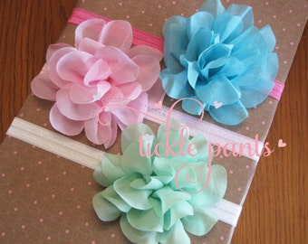 Fluffy soft chiffon petal headband - Upgraded Premium hair accessory - Made to match your Tickle Pants birthday outfit