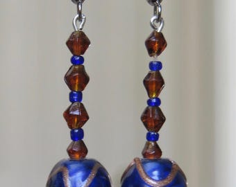 Cobalt Glass Earrings
