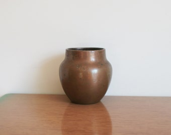 Vintage Clewell Copper Pot, Vase, Art Pottery, Rare Signed, 1930s