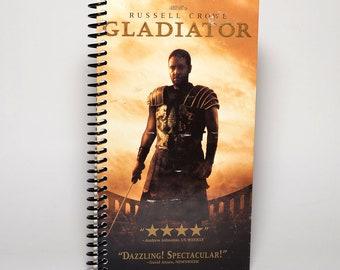 Gladiateur recyclé VHS boîte spirale carnet carnet de croquis