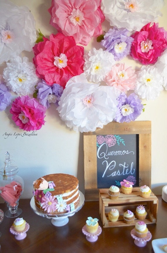 tissue paper flowers wedding items similar to tissue paper flower backdrop sweetheart 8016