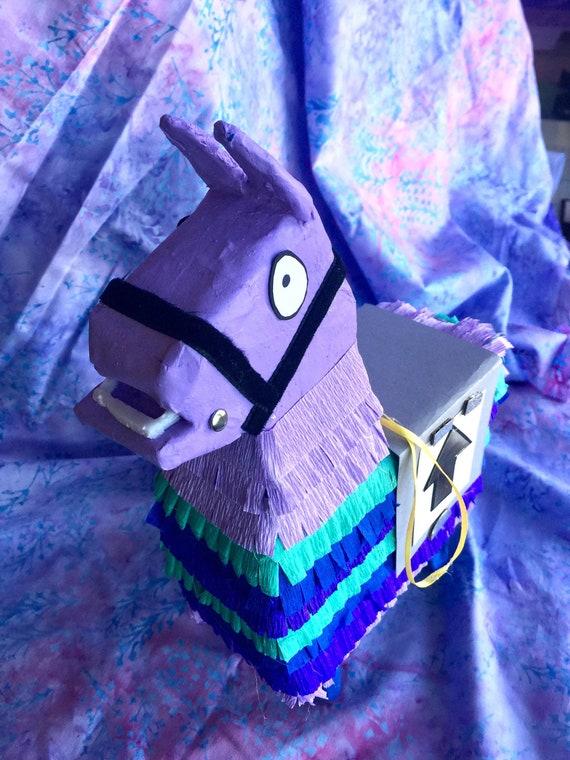 11 inch petite purple paper piñata llama figure, handmade FOR DISPLAY, not a real piñata.  Made to order