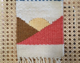 Mini mountain weaving | woven wall hanging | tapestry