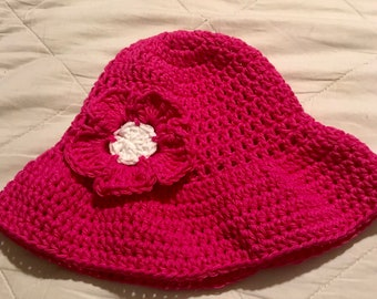 Summer hat for girl 100% cotton