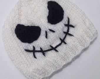 Jack Skellington inspired Baby Hat 3-6 months